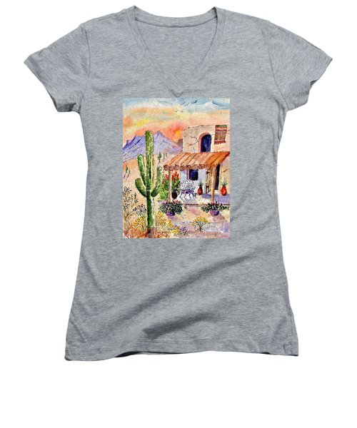 A Place Of My Own Women's V-Neck T-Shirt (Junior Cut) by Marilyn Smith