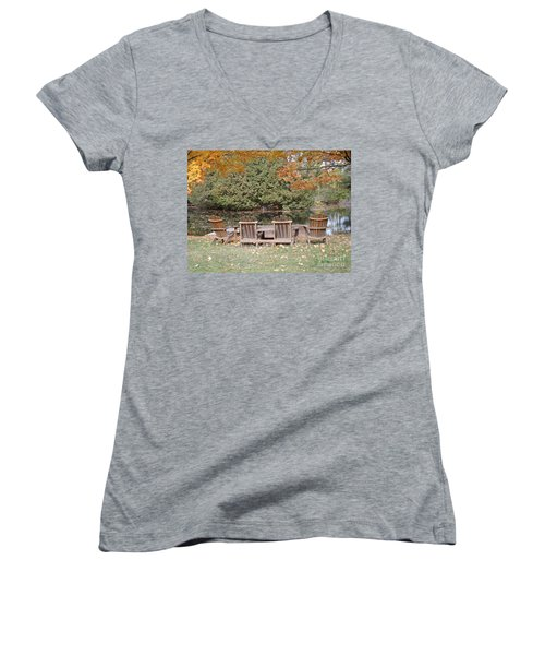 Relax For A Moment  Women's V-Neck T-Shirt