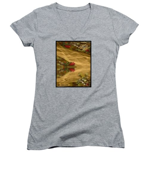 A Rose Bud Stream Women's V-Neck T-Shirt