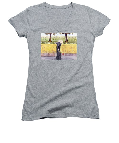 A Rose For My Dear Women's V-Neck (Athletic Fit)
