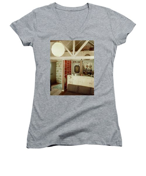 A Rustic Kitchen Women's V-Neck