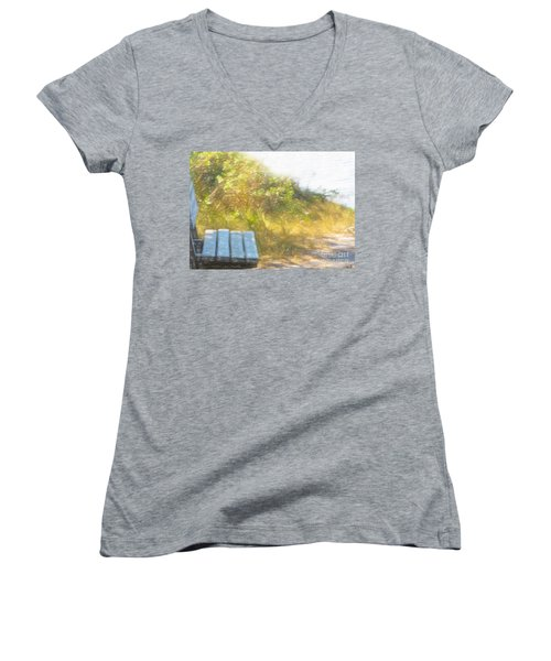 A Seat By The Ocean Women's V-Neck T-Shirt