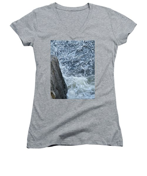A Stillness In The Storm  Women's V-Neck T-Shirt (Junior Cut) by Brian Boyle