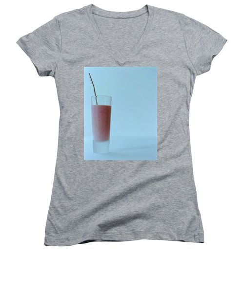 A Strawberry Flavored Drink Women's V-Neck