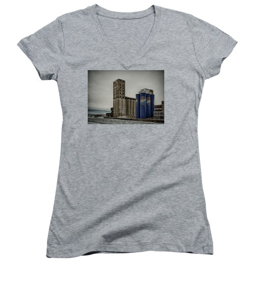 A Tall Blue Six-pack Women's V-Neck