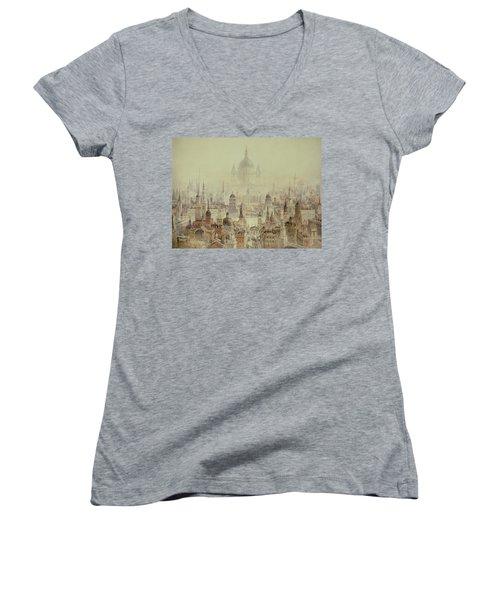 A Tribute To Sir Christopher Wren Women's V-Neck T-Shirt