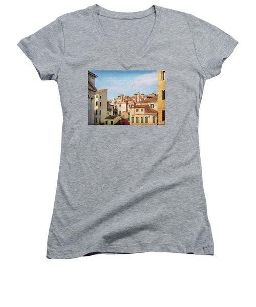 A Venetian View Women's V-Neck T-Shirt