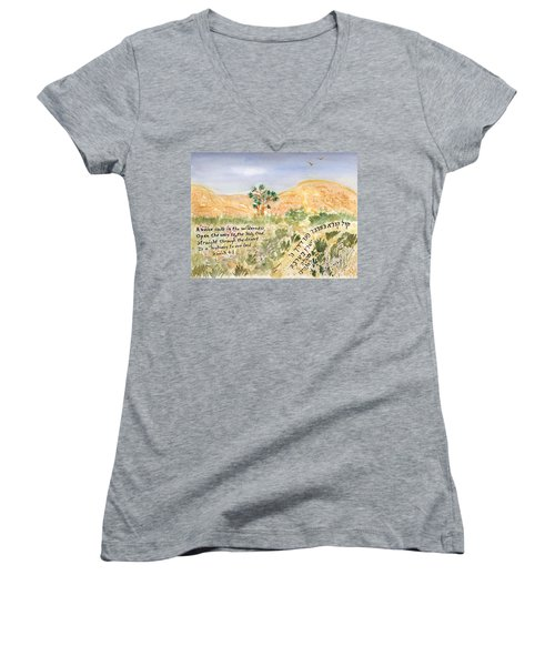 A Voice Calls Women's V-Neck T-Shirt