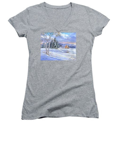 A Winter Afternoon Women's V-Neck (Athletic Fit)