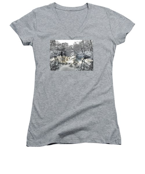 A Winter Scene Women's V-Neck (Athletic Fit)