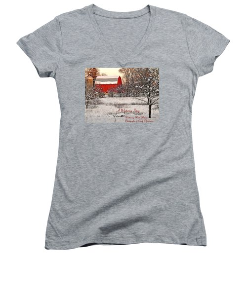 A Wintering Story Women's V-Neck (Athletic Fit)