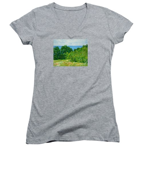 A Winter's Day At The Beach Women's V-Neck