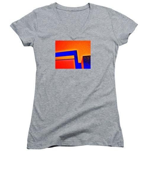 Manhattan Nocturne 66 Women's V-Neck T-Shirt