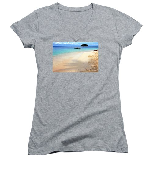 Abandoned Women's V-Neck T-Shirt (Junior Cut) by Bob Hislop