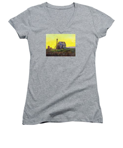 Abandoned  Farm Women's V-Neck T-Shirt