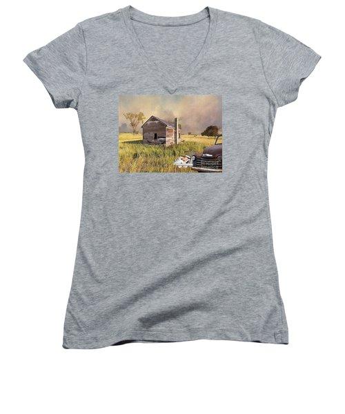 Abandoned Women's V-Neck T-Shirt (Junior Cut) by Liane Wright