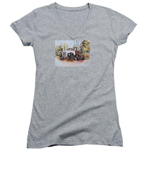 Abandoned Women's V-Neck T-Shirt (Junior Cut) by P Anthony Visco