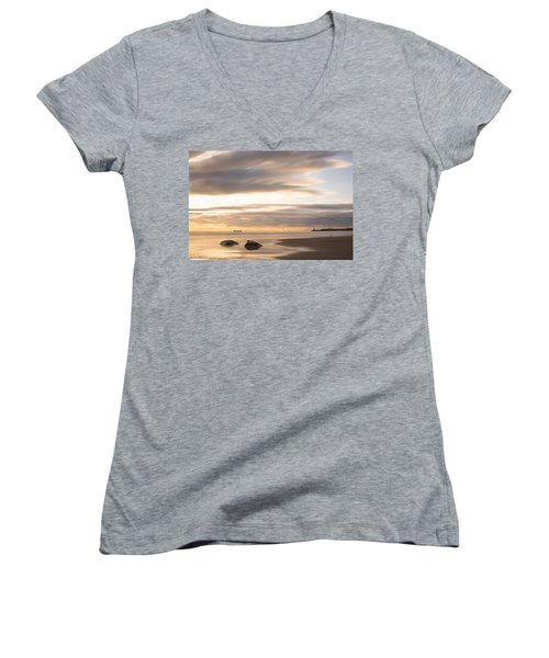 Aberdeen Beach At Dawn Women's V-Neck (Athletic Fit)
