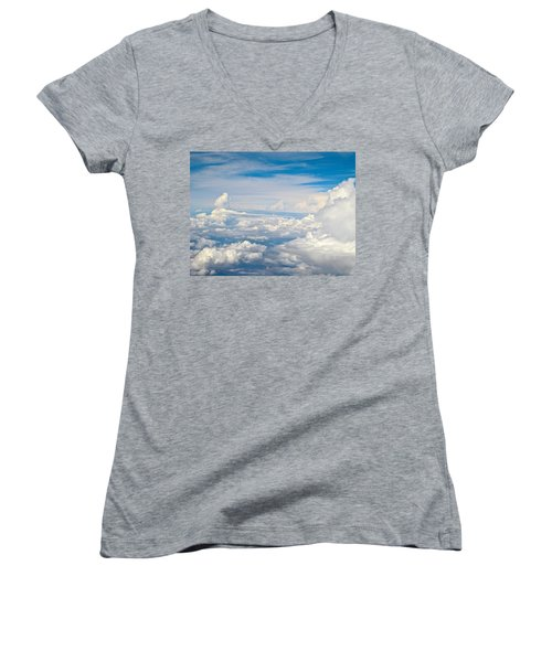 Above The Clouds Over Texas Image B Women's V-Neck (Athletic Fit)
