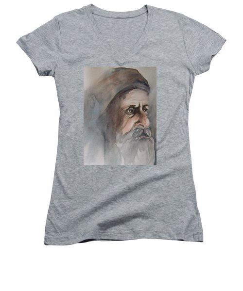 Abraham Women's V-Neck T-Shirt (Junior Cut) by Annemeet Hasidi- van der Leij