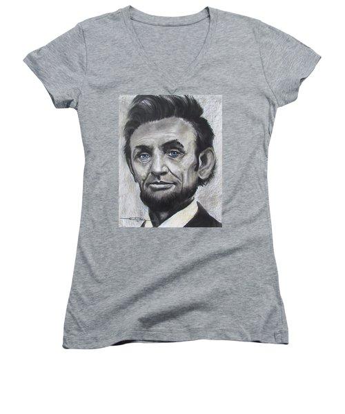Abraham Lincoln Women's V-Neck T-Shirt