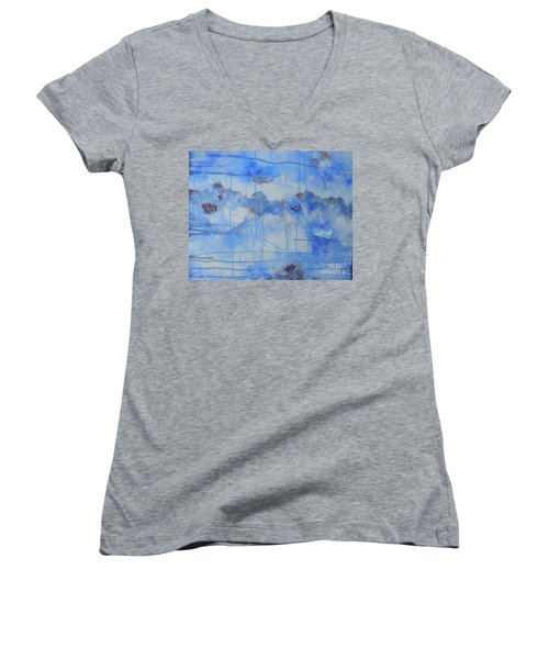 Abstract # 3 Women's V-Neck T-Shirt (Junior Cut) by Susan Williams