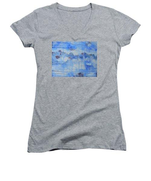 Abstract # 3 Women's V-Neck T-Shirt