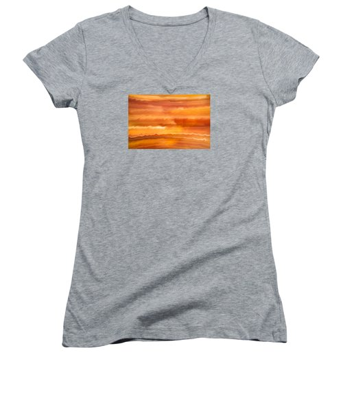 Abstract 14 Women's V-Neck T-Shirt