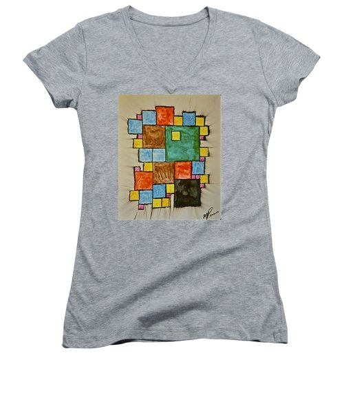 Abstract 89-003 Women's V-Neck