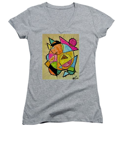 Abstract 89-004 Women's V-Neck
