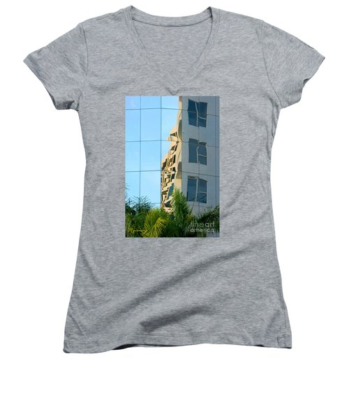 Abstract Architectural Shapes Women's V-Neck T-Shirt