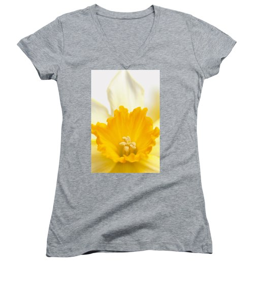 Abstract Daffodil Women's V-Neck (Athletic Fit)