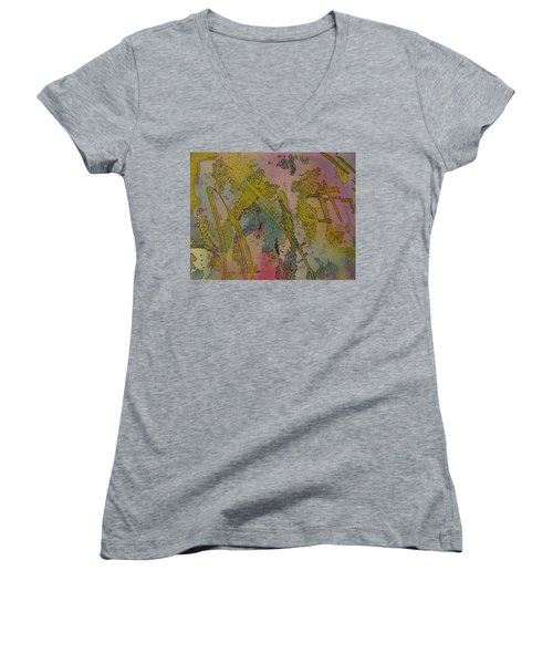 Abstract Doodle Women's V-Neck