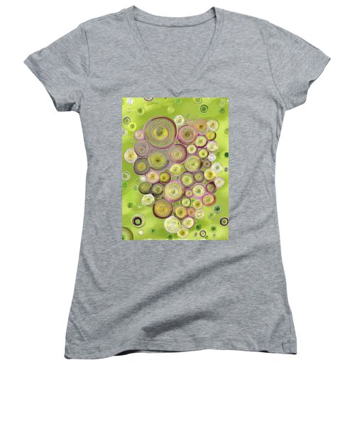 Abstract Grapes Women's V-Neck (Athletic Fit)