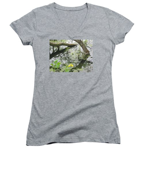 Abstract Nature 2 Women's V-Neck