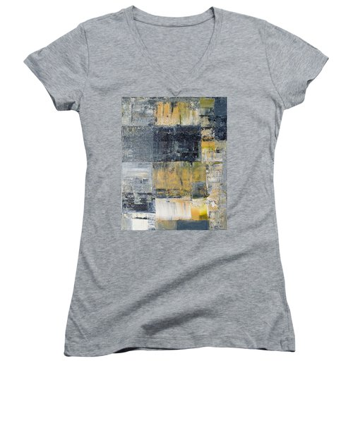 Abstract Painting No. 4 Women's V-Neck T-Shirt (Junior Cut)