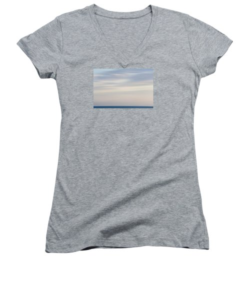 Abstract Seascape No. 01 Women's V-Neck T-Shirt
