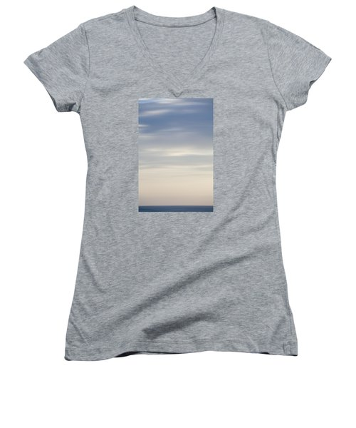 Abstract Seascape No. 03 Women's V-Neck T-Shirt