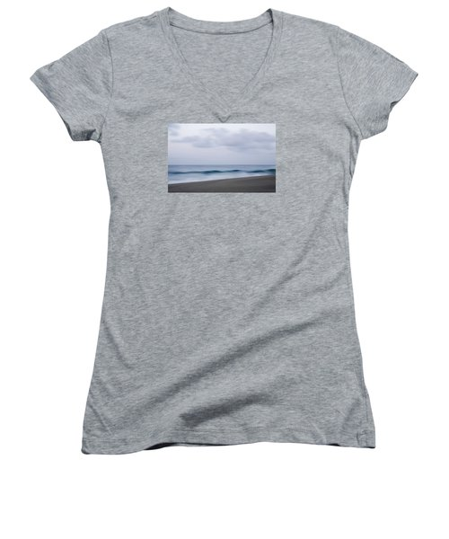 Abstract Seascape No. 09 Women's V-Neck T-Shirt