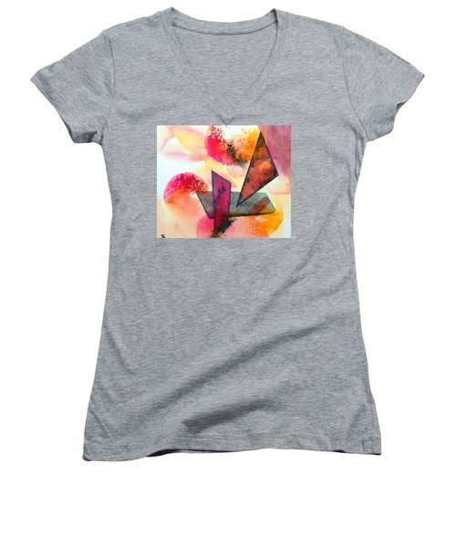 Abstract Shapes Women's V-Neck (Athletic Fit)