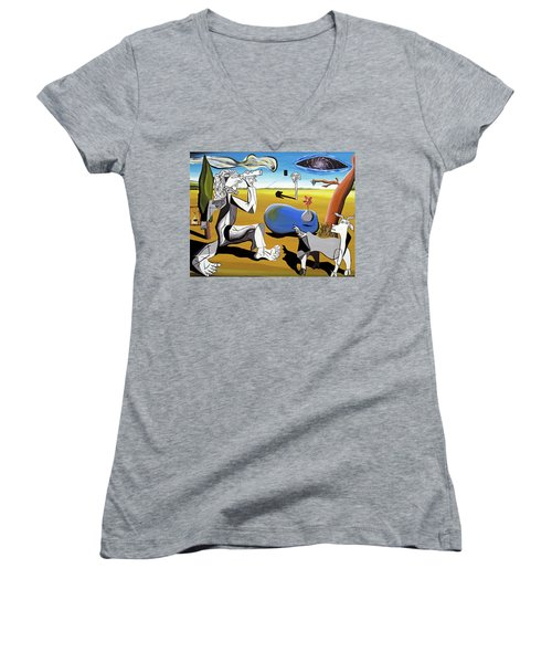 Abstract Surrealism Women's V-Neck