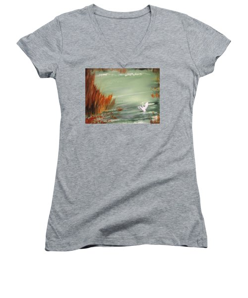 Achieving Stillness2 Women's V-Neck T-Shirt