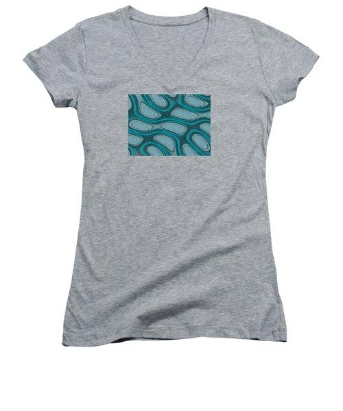 Acrescentado Women's V-Neck T-Shirt (Junior Cut) by Jeff Iverson