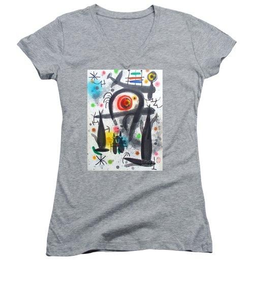 Acuatico Triunfo De La Imaginacion Women's V-Neck T-Shirt (Junior Cut) by Roberto Prusso