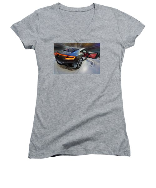 Acura N S X  Concept 2013 Women's V-Neck (Athletic Fit)