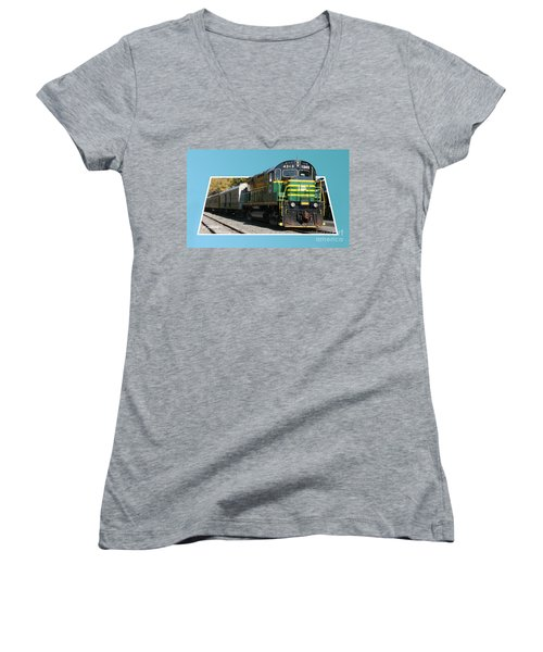 Adirondack Railroad Women's V-Neck T-Shirt