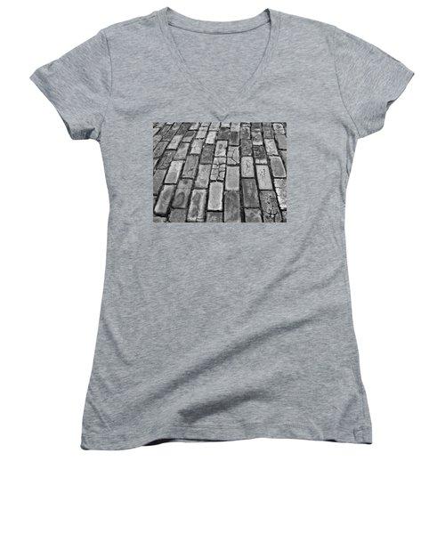 Adoquines - Old San Juan Pavers Women's V-Neck T-Shirt