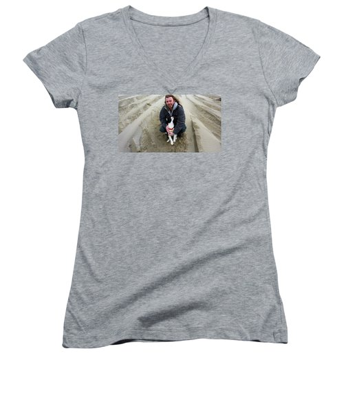 Adoring Look Women's V-Neck T-Shirt (Junior Cut) by Susan Garren