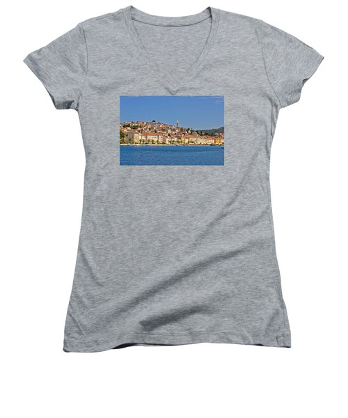 Adriatic Town Of Mali Losinj View From Sea Women's V-Neck (Athletic Fit)