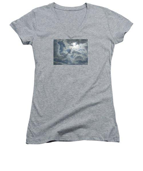 Aerial Display 2 Women's V-Neck T-Shirt